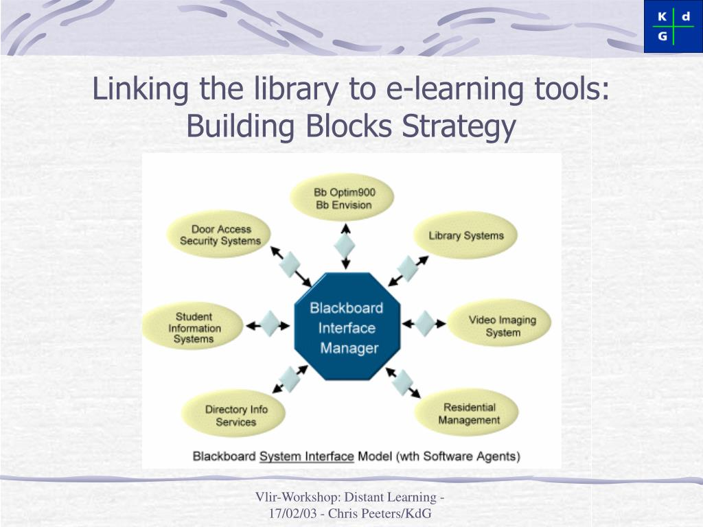 Linking the library to e-learning tools: Building Blocks Strategy