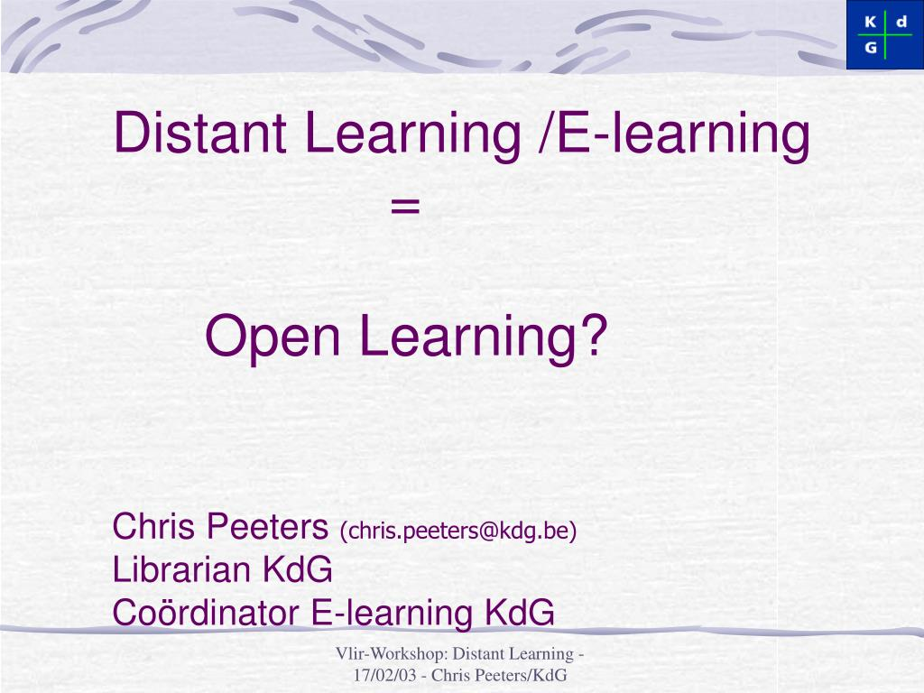 Distant Learning /E-learning