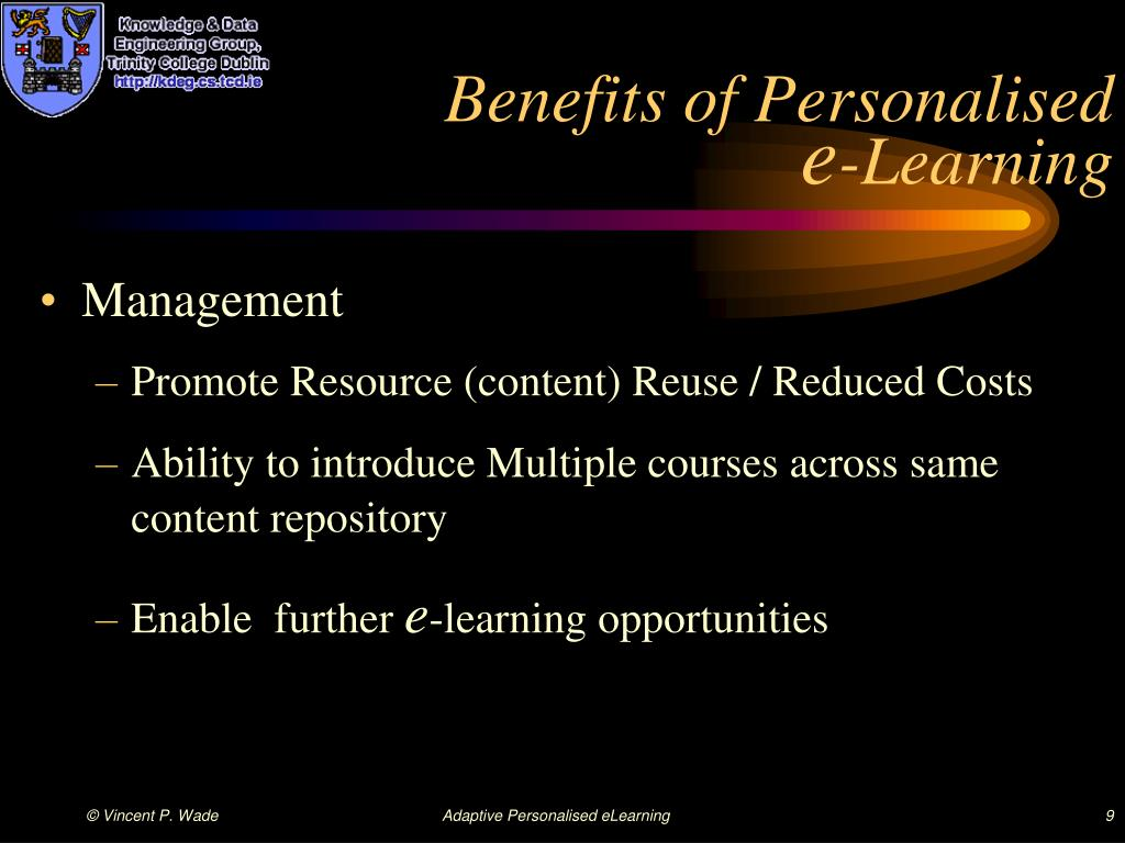 Benefits of Personalised