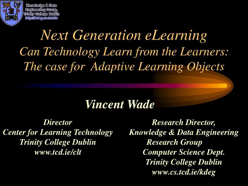 Next Generation eLearning
