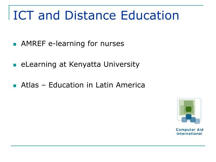 ICT and Distance Education