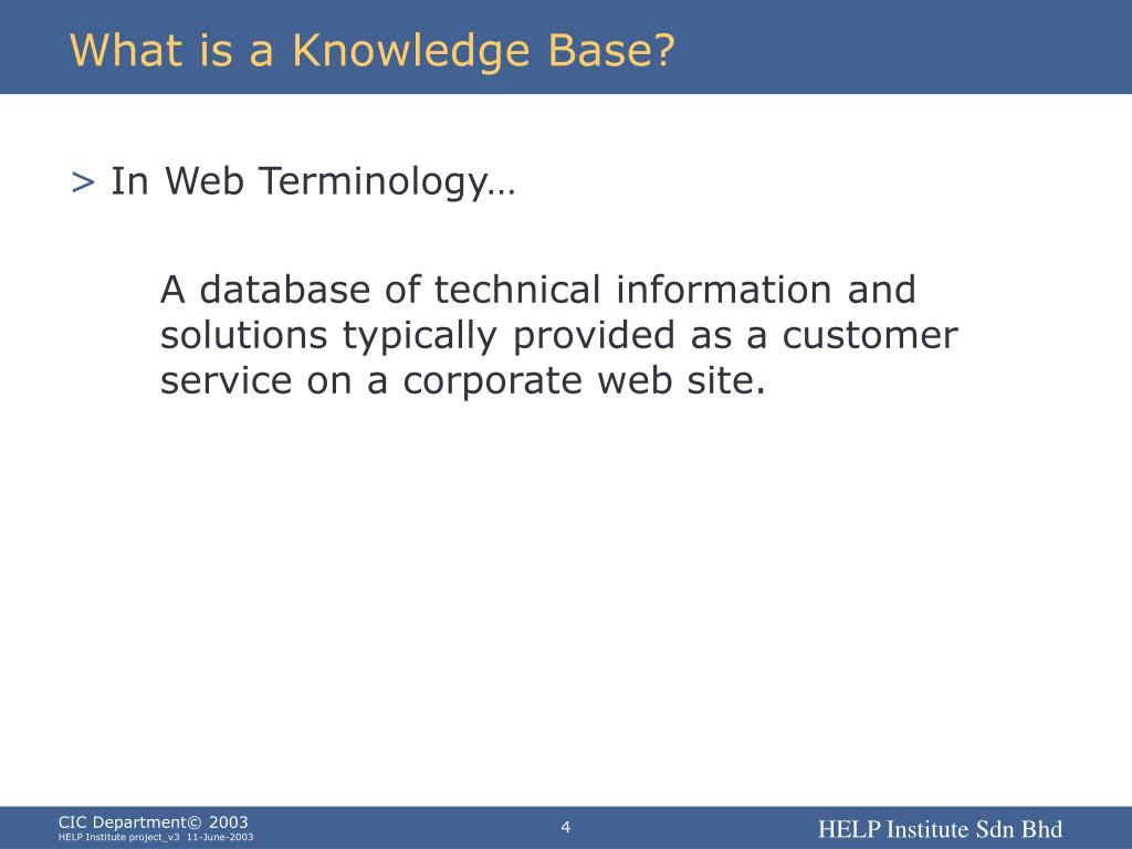 What is a Knowledge Base?