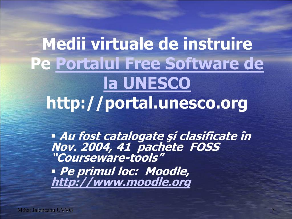"""Au fost catalogate şi clasificate în Nov. 2004, 41  pachete  FOSS """"Courseware-tools"""""""