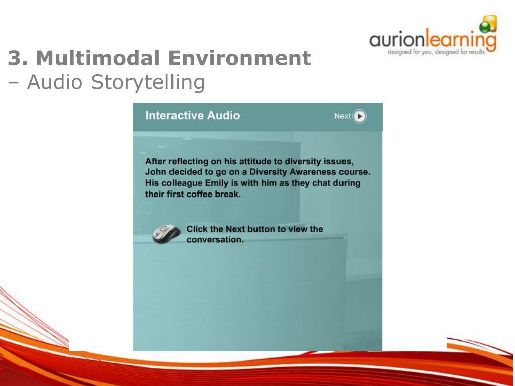 3. Multimodal Environment