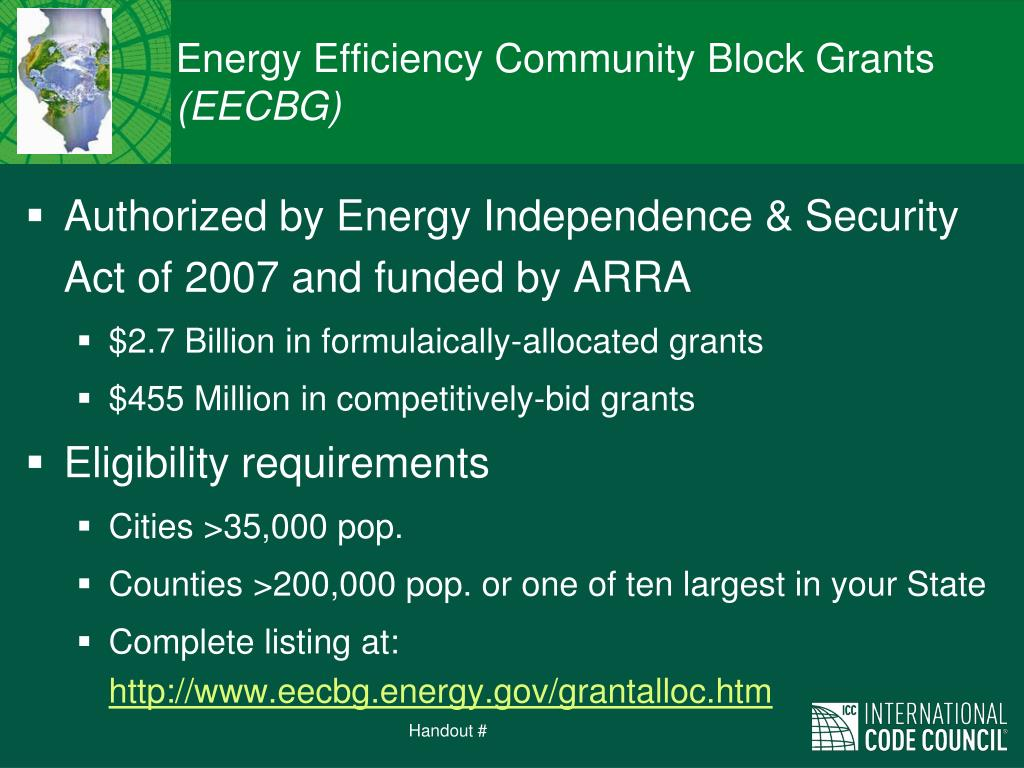 Energy Efficiency Community Block Grants