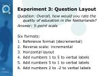 experiment 3 question layout