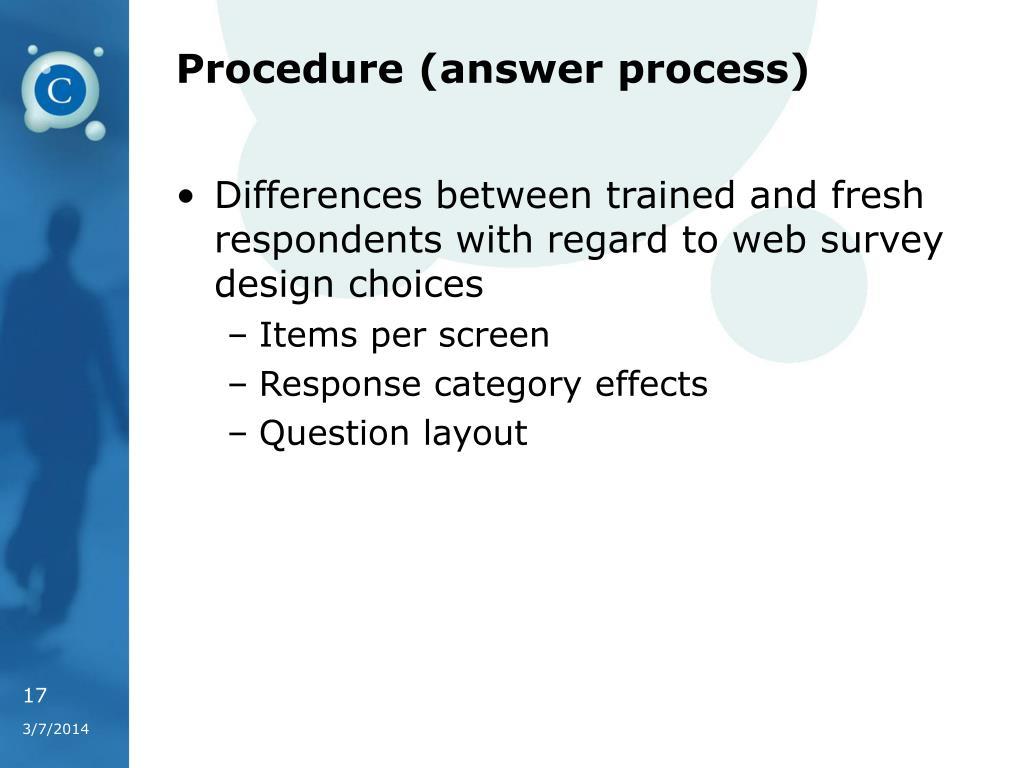 Procedure (answer process)