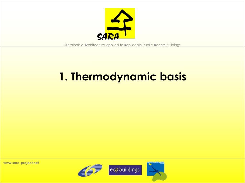 1. Thermodynamic basis