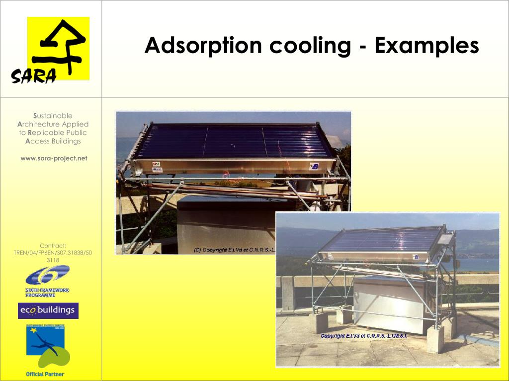 Adsorption cooling - Examples