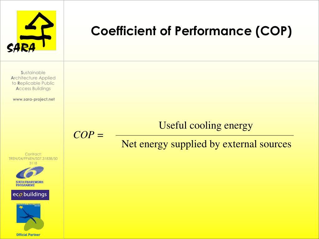 Useful cooling energy