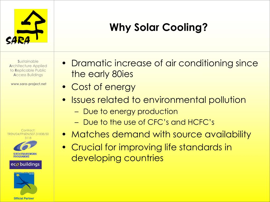 Why Solar Cooling?