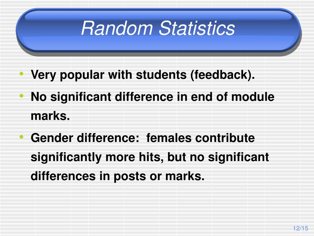 Random Statistics
