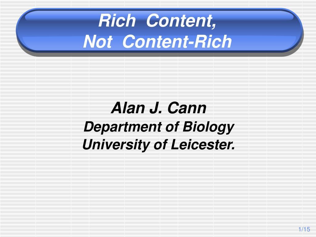 Rich  Content,