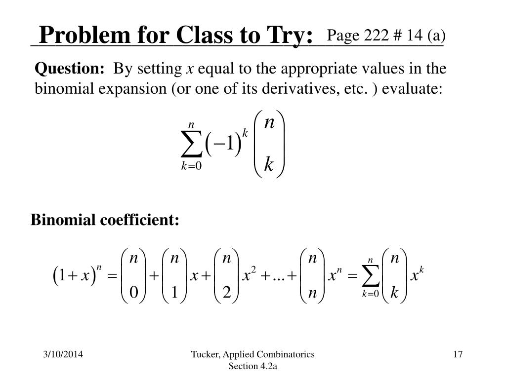 Problem for Class to Try: