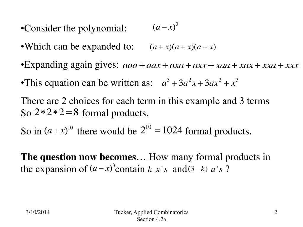 Consider the polynomial: