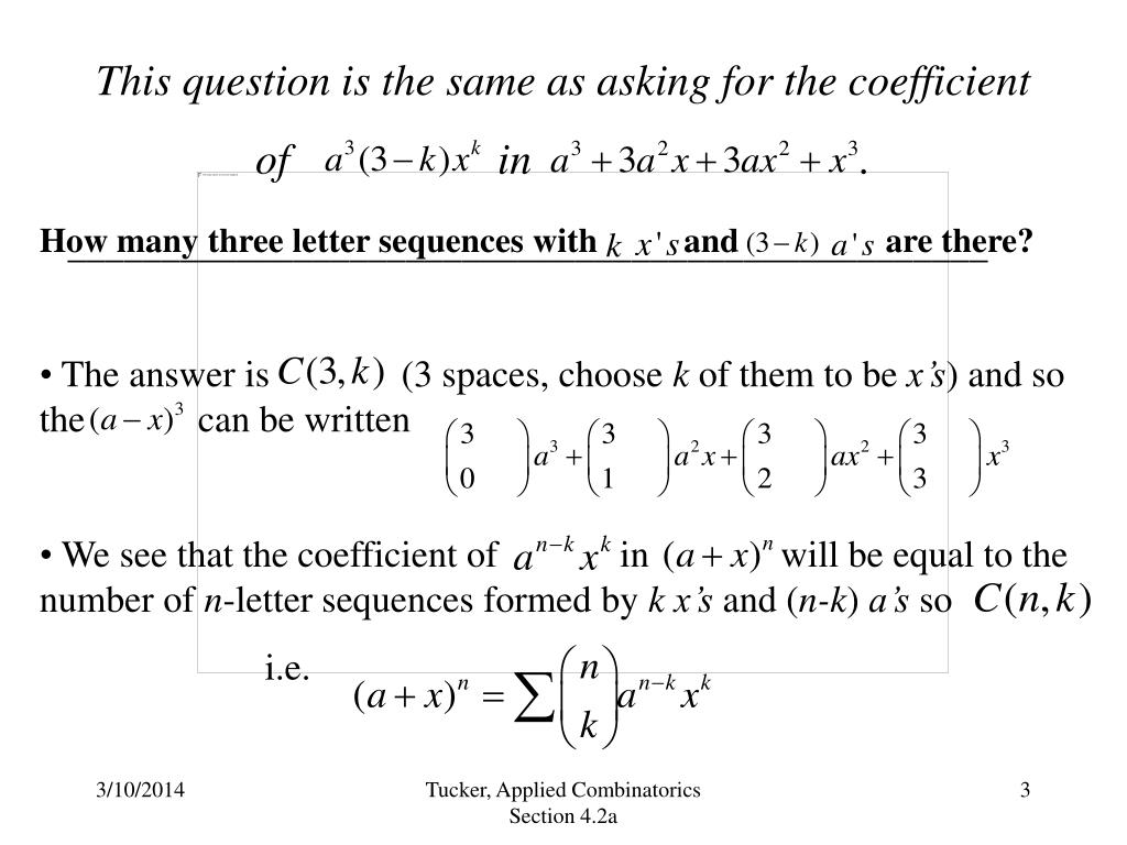 This question is the same as asking for the coefficient