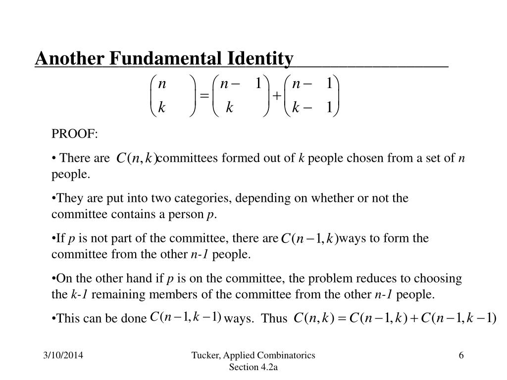 Another Fundamental Identity