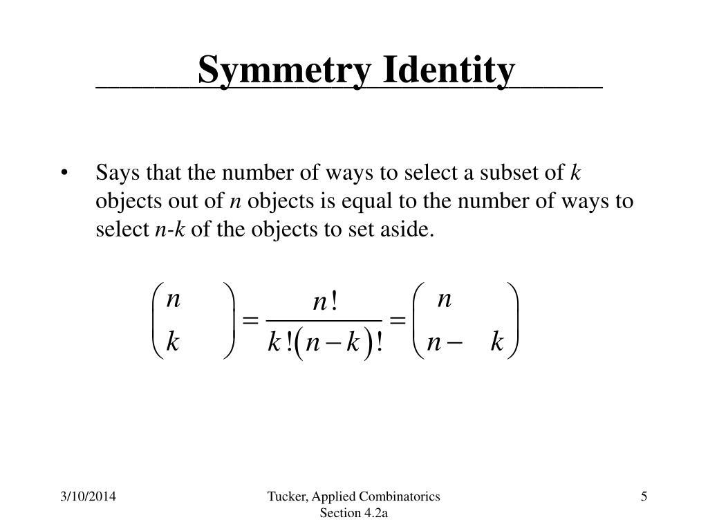 Symmetry Identity