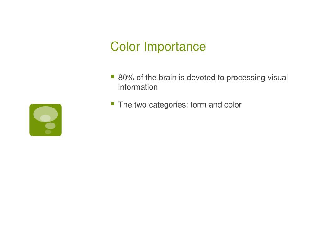 Color Importance