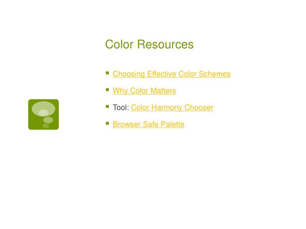 Color Resources