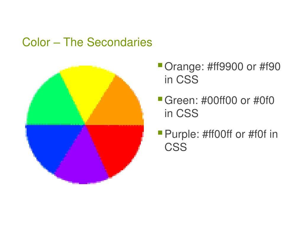 Color – The Secondaries