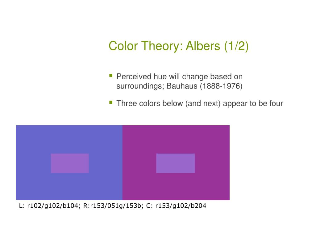 Color Theory: Albers (1/2)