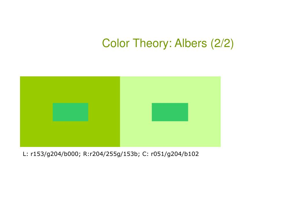 Color Theory: Albers (2/2)