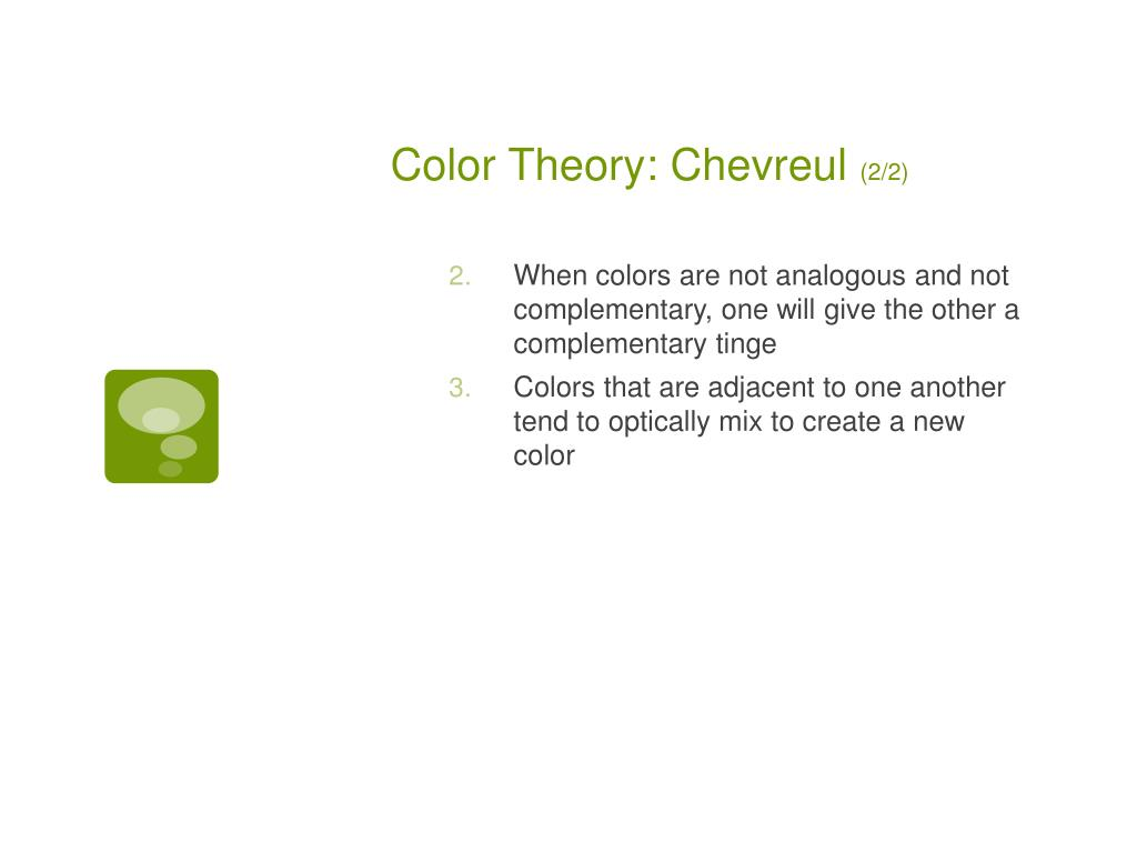 Color Theory: Chevreul
