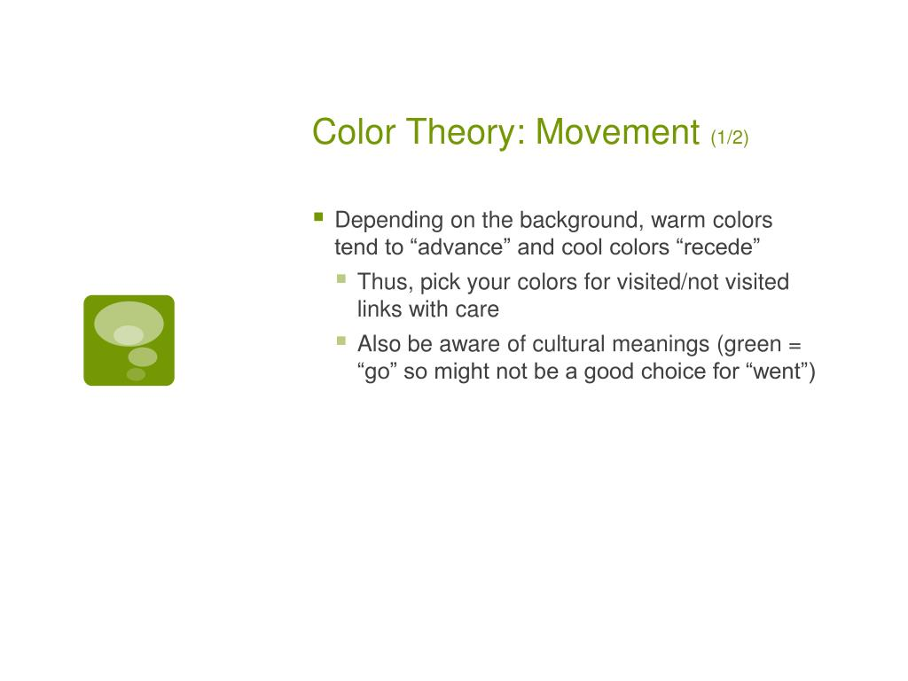 Color Theory: Movement