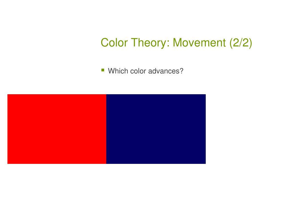 Color Theory: Movement (2/2)