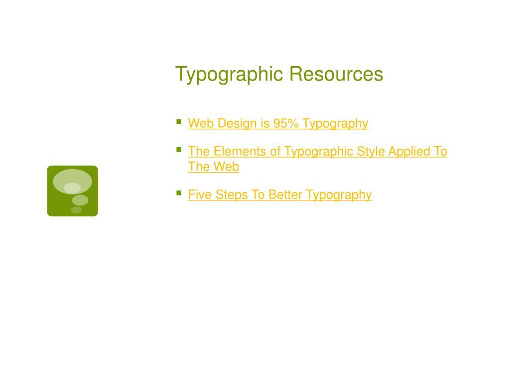 Typographic Resources