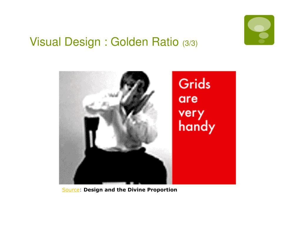 Visual Design : Golden Ratio