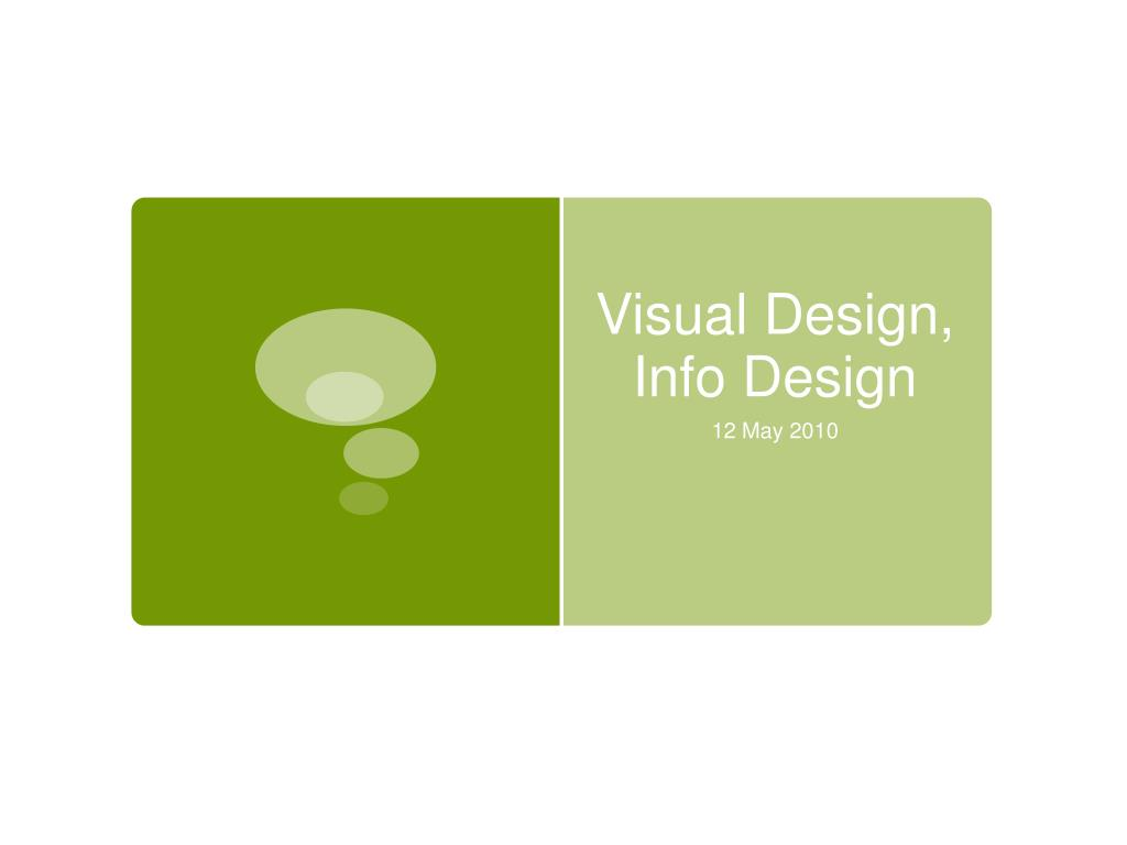 visual design info design