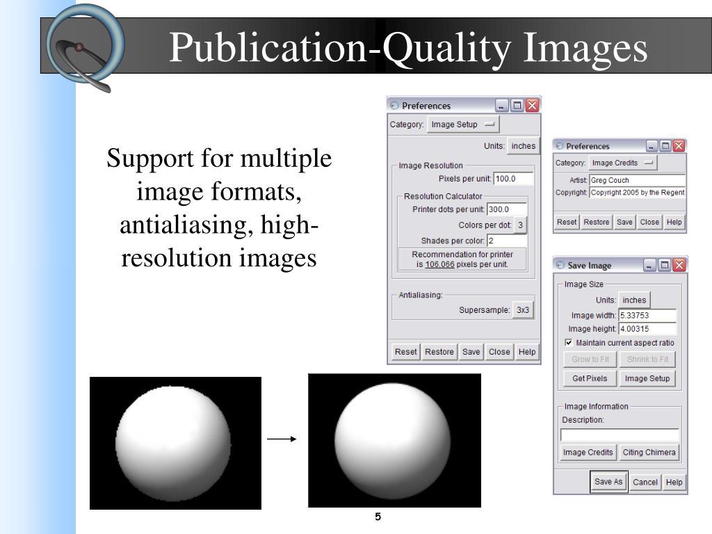 Publication-Quality Images
