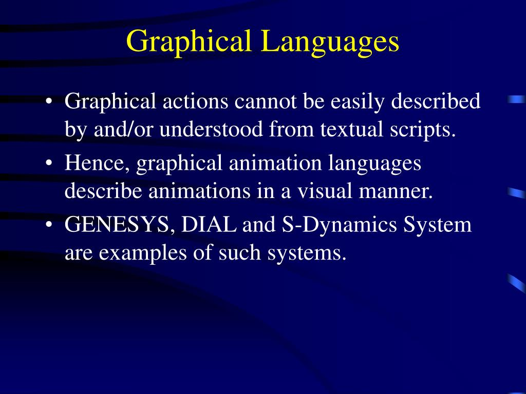 Graphical Languages