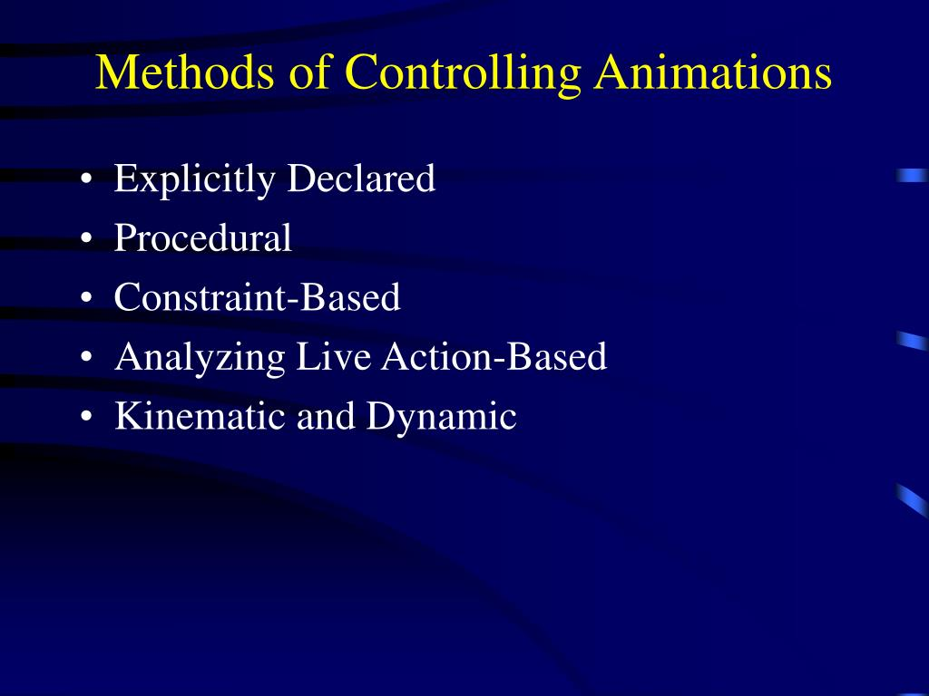 Methods of Controlling Animations