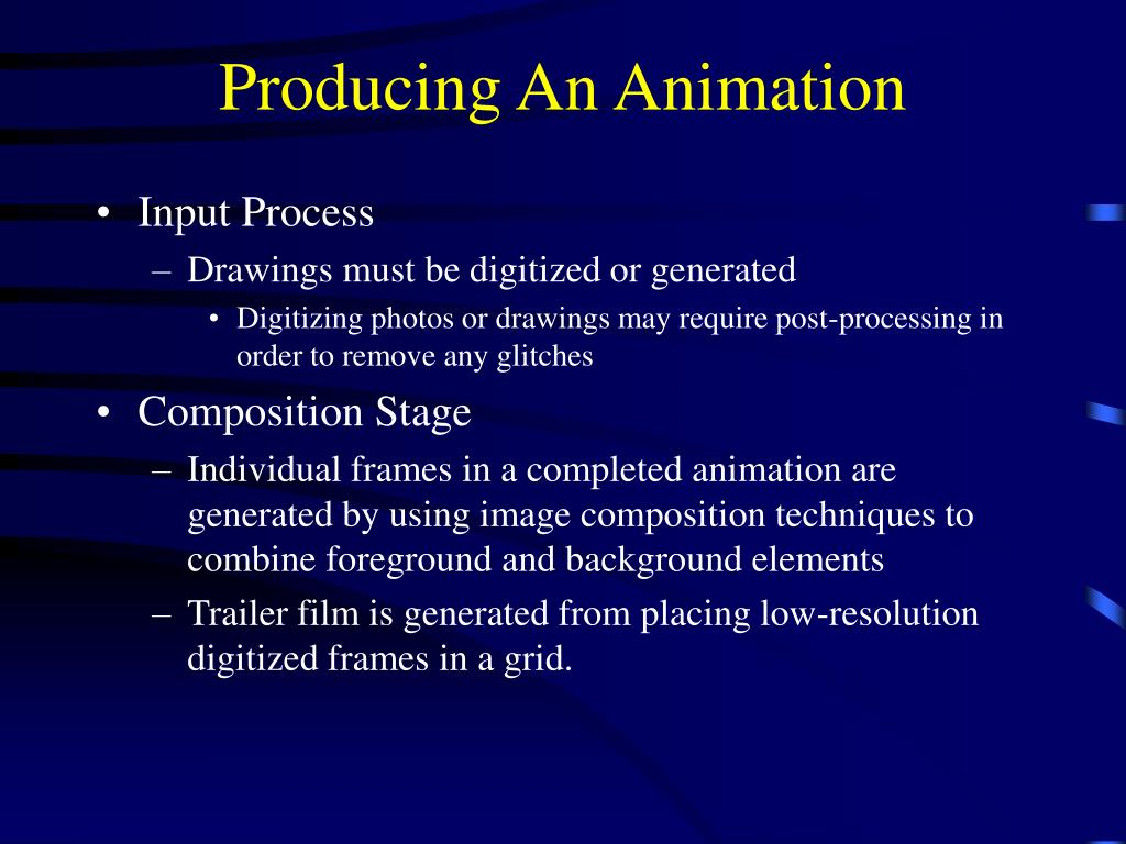 Producing An Animation