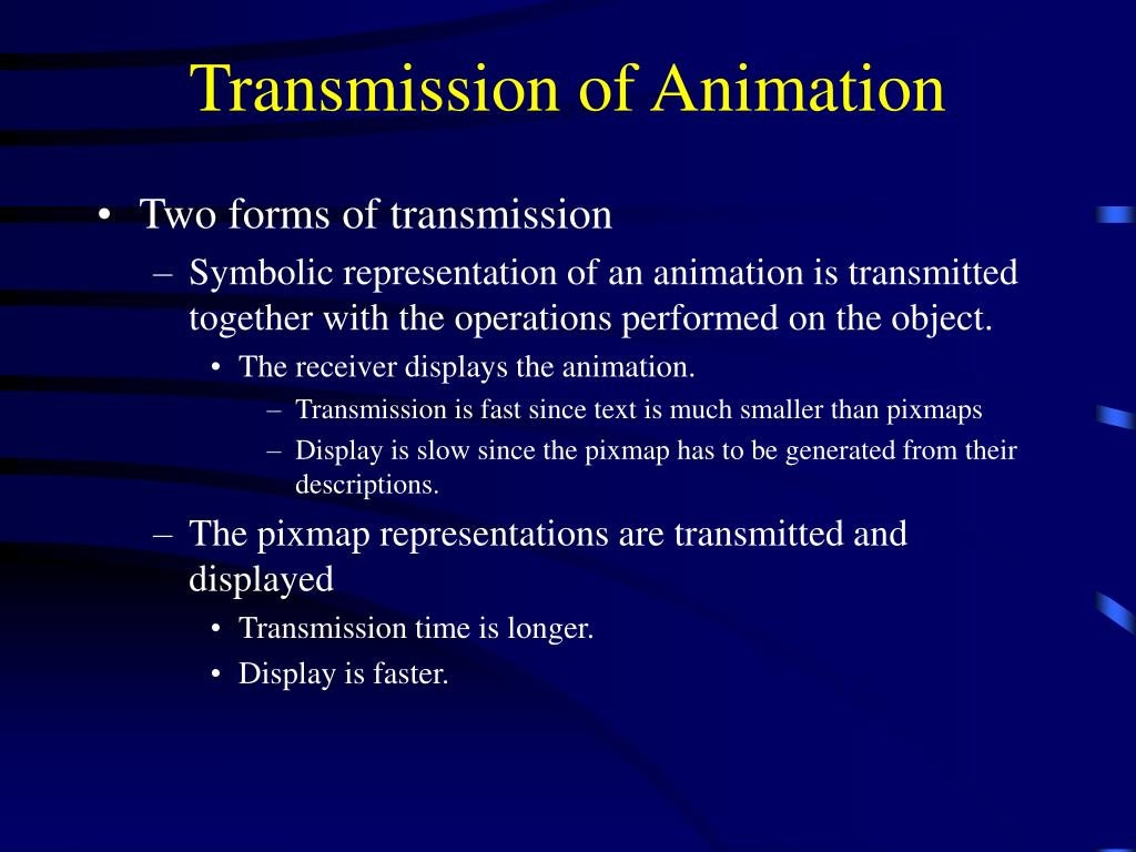 Transmission of Animation
