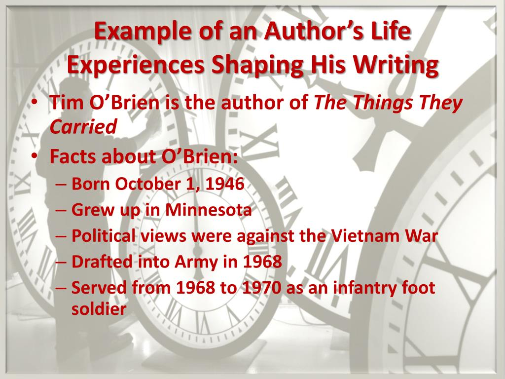 an analysis of tim obriens novel of life war and truth We do not see the war and its aftermath only through the eyes of the tim o'brien character the sequence of events is also jumbled the book begins is vietnam, then drives ahead to an episode after the war, reverts back to the summer when he received his draft notice, ahead to the war, reverses to his childhood, etc.