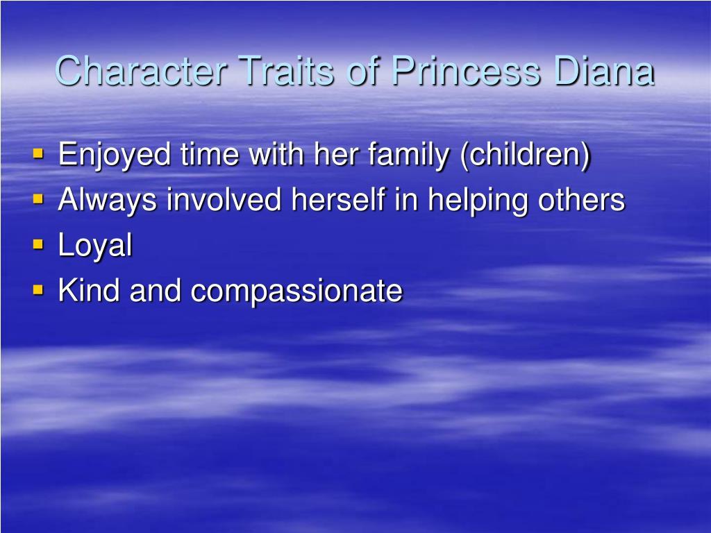 Character Traits of Princess Diana