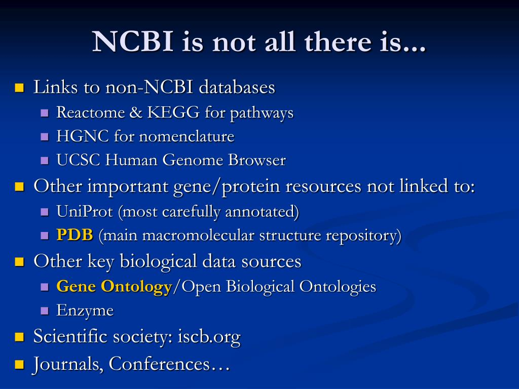 NCBI is not all there is...