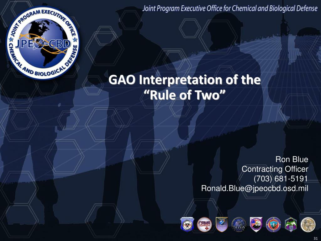 GAO Interpretation of the
