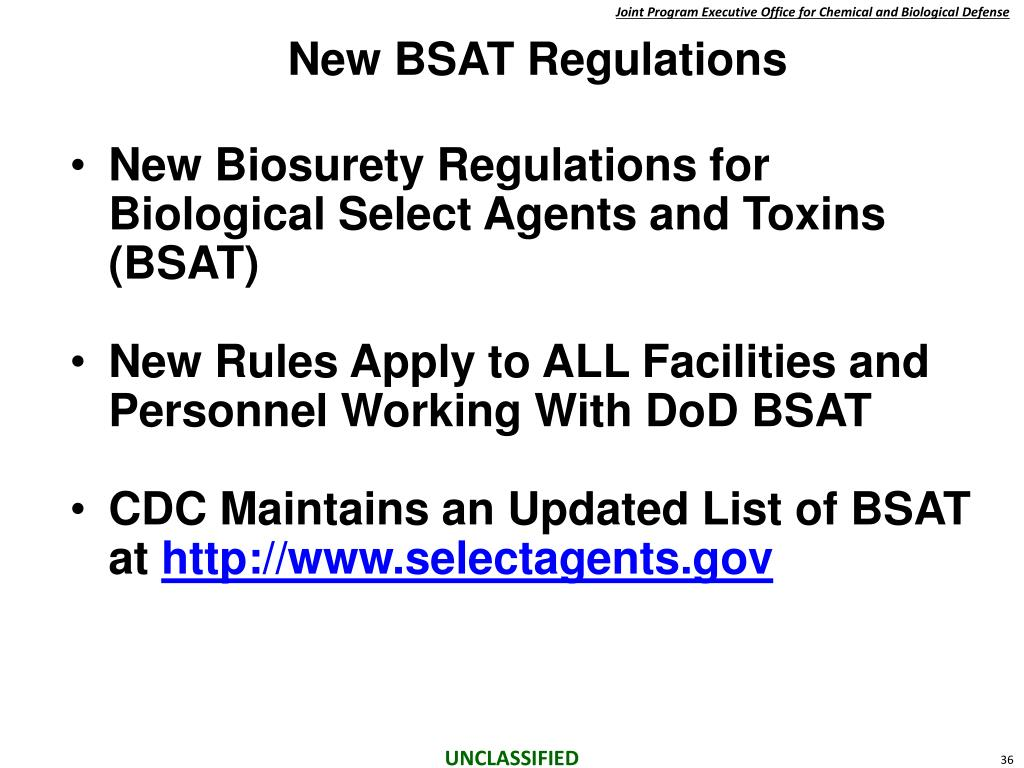 New BSAT Regulations