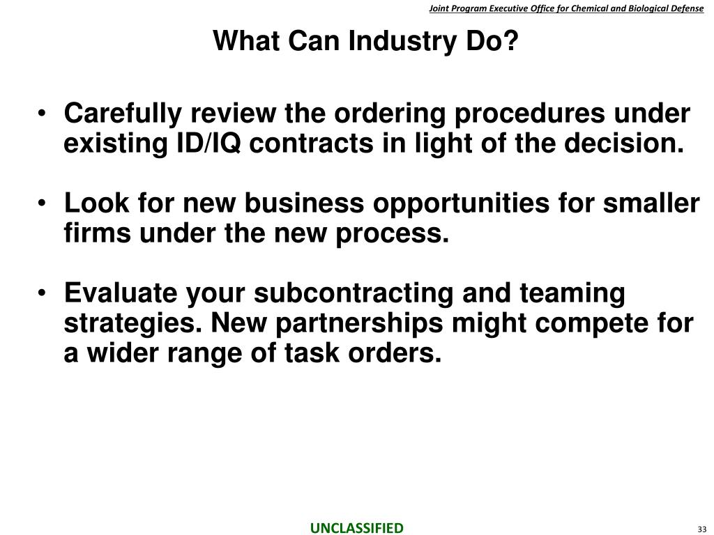 What Can Industry Do?