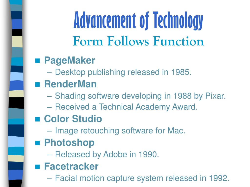 Advancement of Technology