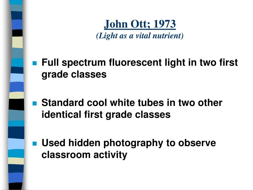 John Ott; 1973