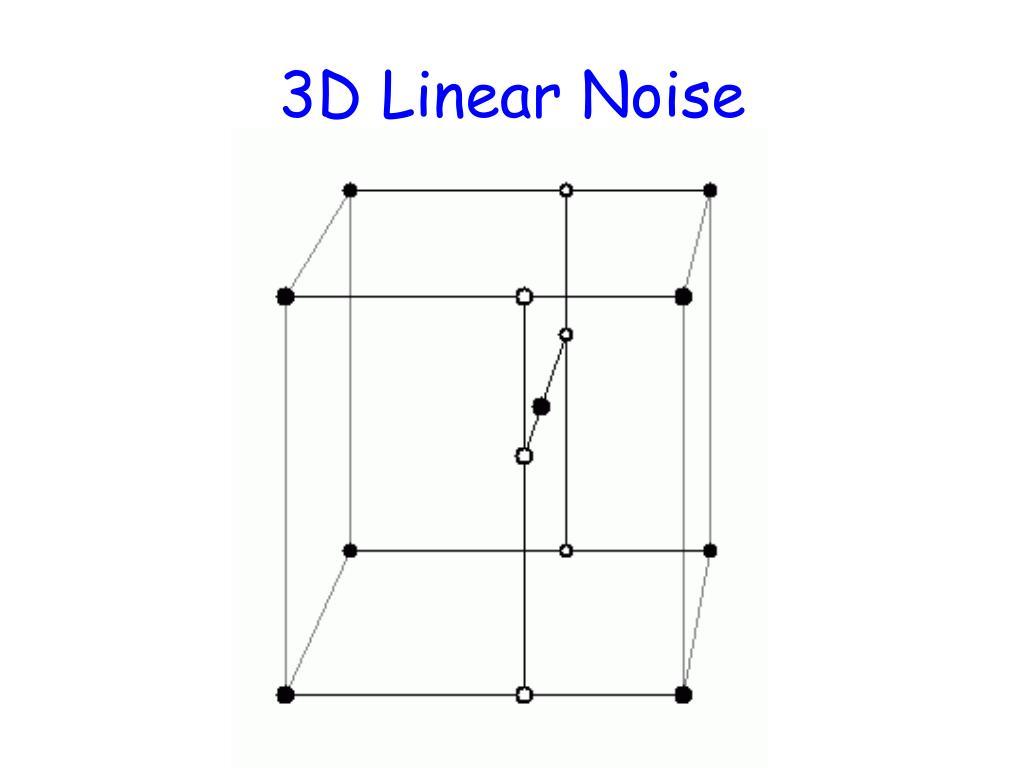 3D Linear Noise