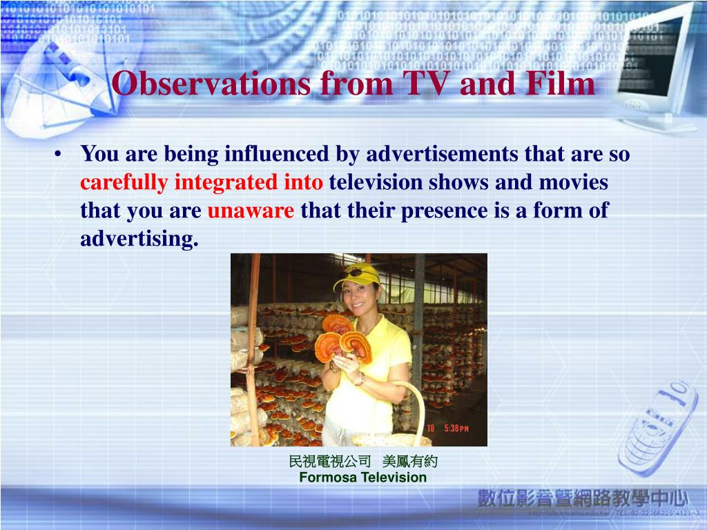 Observations from TV and Film