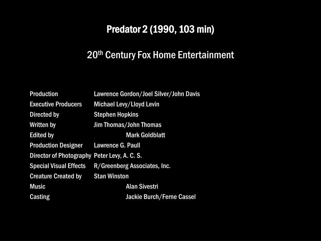 Predator 2 (1990, 103 min)