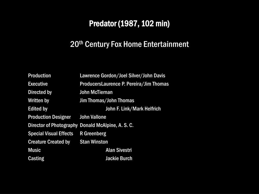 Predator (1987, 102 min)